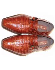 Mezlan Brown Genuine Crocodile