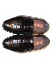 Mezlan Alligator Loafer Black