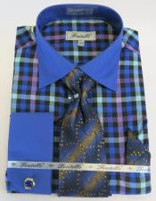 Blue Colorful Mens Dress