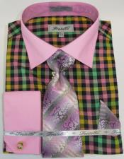 Pink Colorful Mens Dress