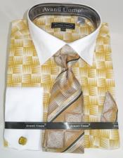 Gold Colorful Mens Dress