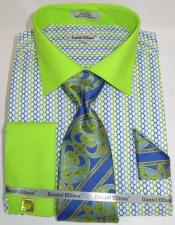 Lime Multi Colorful Mens