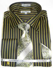 Mustard Pinstripe Colorful Mens