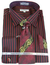 Pinstripe Colorful Mens Dress