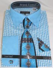 Blue Colorful Mens Fashion
