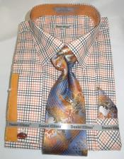Orange Colorful Mens Dress