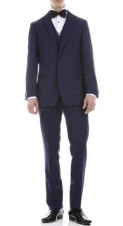 Navy Slim Fit 3pc