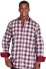 Burgundy Fashion Plaid High