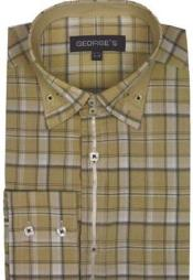Plaid Fashion Shirt Beige