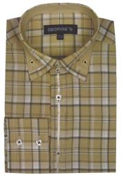 Beige Plaid Fashion Shirts