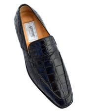 Black Color Crocodile Loafers