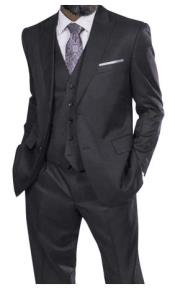 Steve Harvey Suits Charcoal