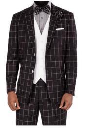Steve Harvey Suits Black
