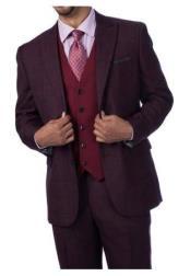 Steve Harvey Suits Burgundy