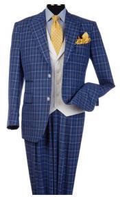 Steve Harvey Suits Blue