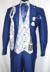 Falcone Mens Blue Paisley
