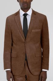 Brown Corduroy Two Button