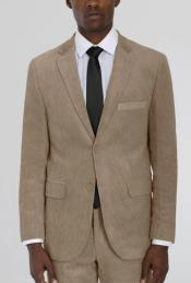 Beige Corduroy Two Button