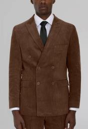 Brown Corduroy Six Button