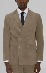 Beige Corduroy Six Button