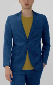 Blue Corduroy Two Button