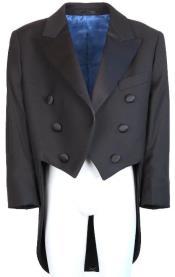 Black Tailcoat Tuxedo Jacket