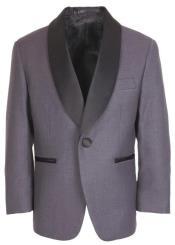 Steel Grey Tuxedo Jacket