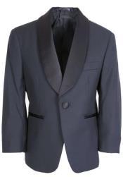 Navy Tuxedo Jacket