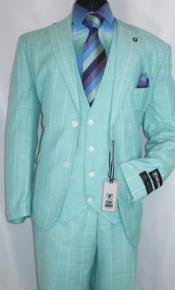 Adams Suits Mint Green