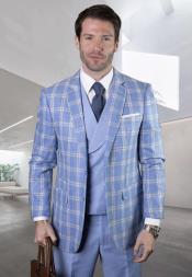 Suit - Windowpane Suit