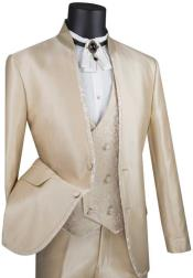 Beige Slim Fit Prom