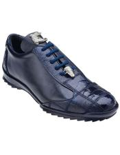 Mens Blue Ostrich Sneaker