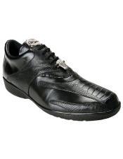 mens Black Ostrich Sneaker
