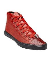 Mens Red Exotic Sneaker