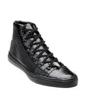 Mens Black Exotic Sneaker