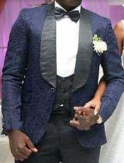 Blue Velvet Paisley Suit