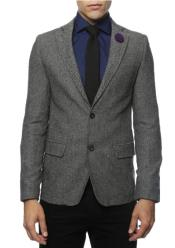 and White Tweed Blazer