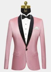 Light Pink Velvet Tuxedo