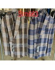 Houndstooth Plaid Two Button