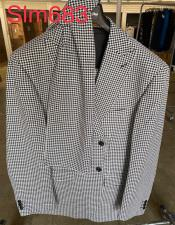 Houndstooth Fashion Plaid Suit