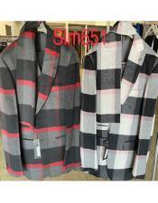 Fashion Plaid Checkered Suit