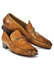 Chestnut Alligator Loafers Chestnut