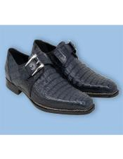 Italy Shoes Blue Crocodile