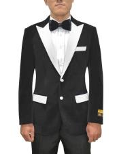 and White Lapel Velvet