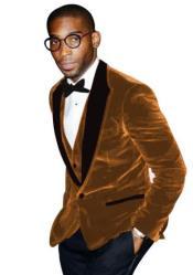 Brown Tuxedo - Velvet