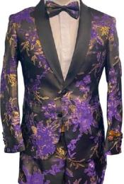 Two Button Floral Prom
