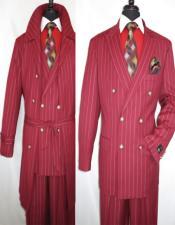 Burgundy Trenchcoat + Burgundy Suit