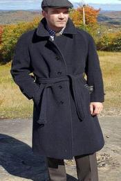 Grey Belted Overcoat -