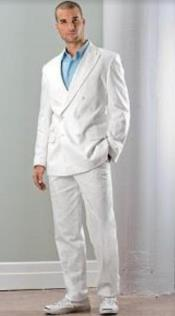 Linen Double Breasted Suit