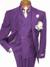 Two Button Purple Single